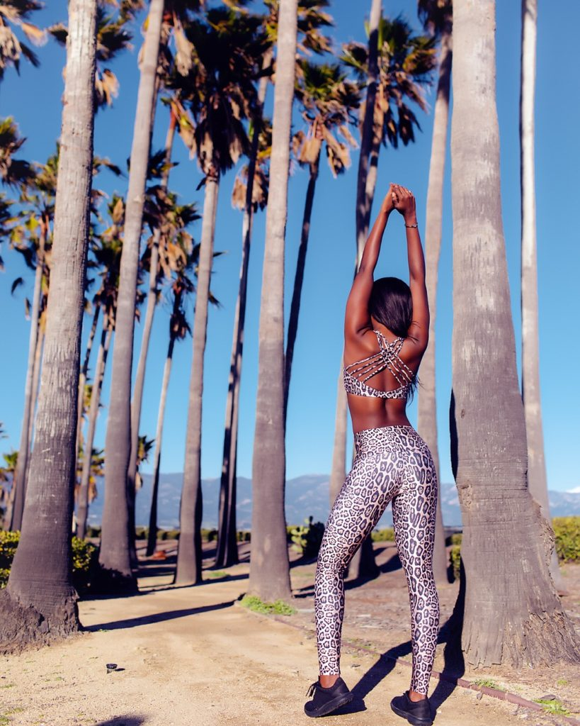 Sincerely active-Leopard print high-rise leggings review