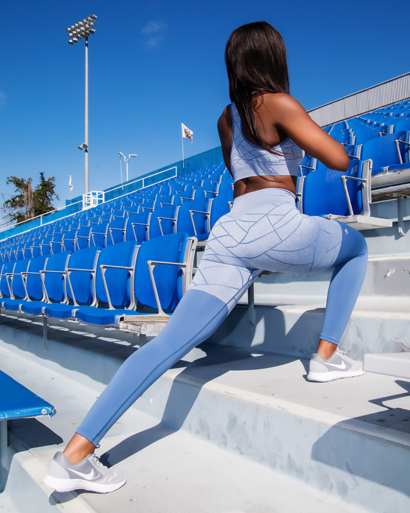 Workout empire activewear leggings and sports bra