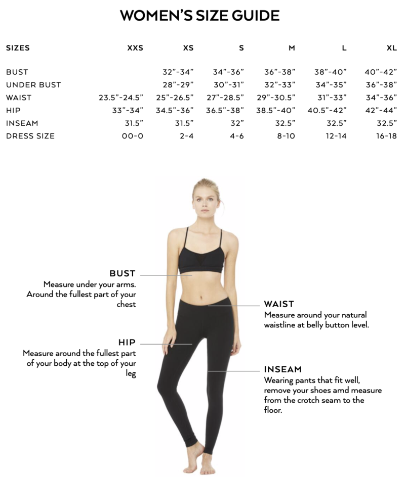 Alo yoga sizing review