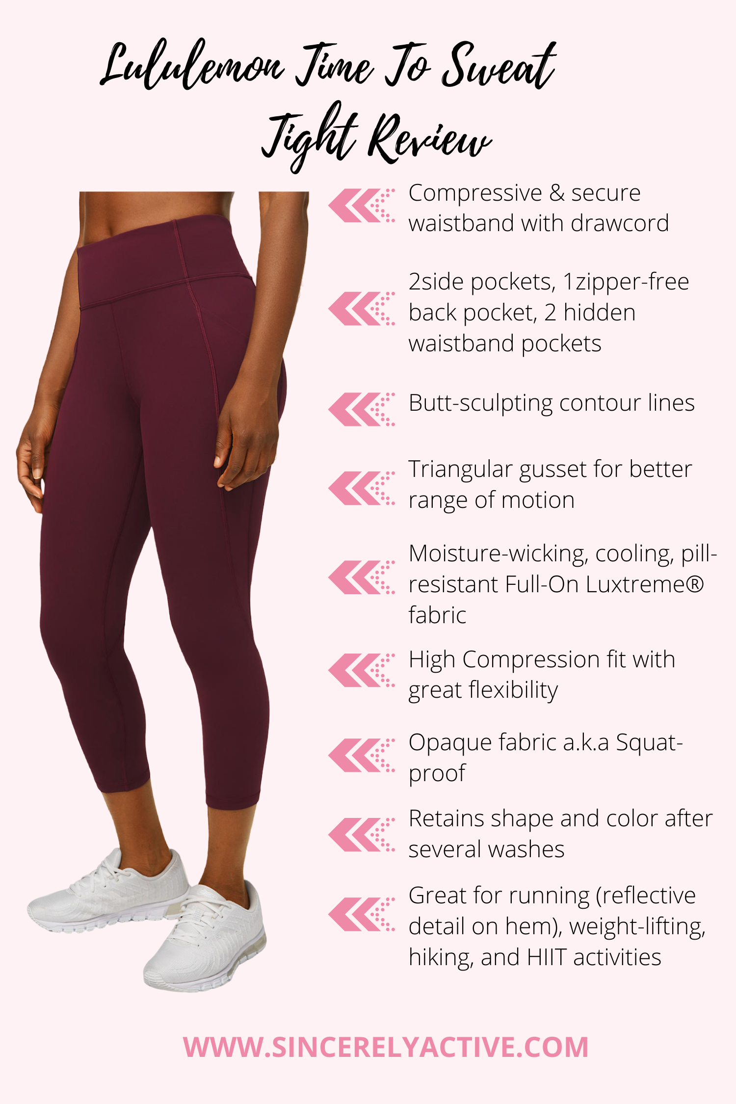 Lululemon time To Sweat legging review