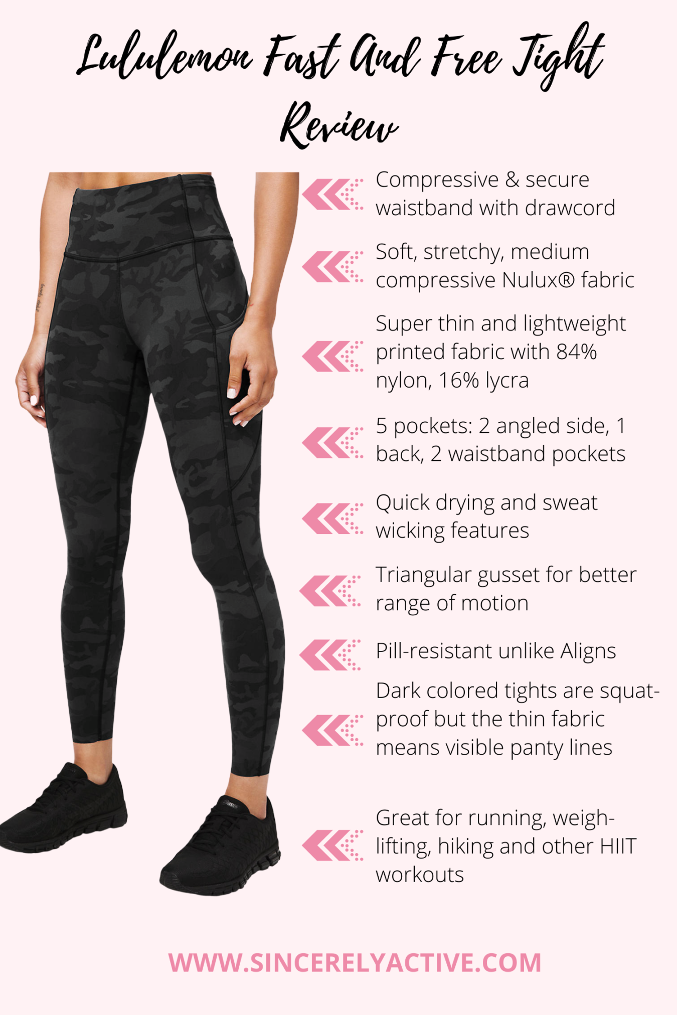 Lululemon fast and free tight review
