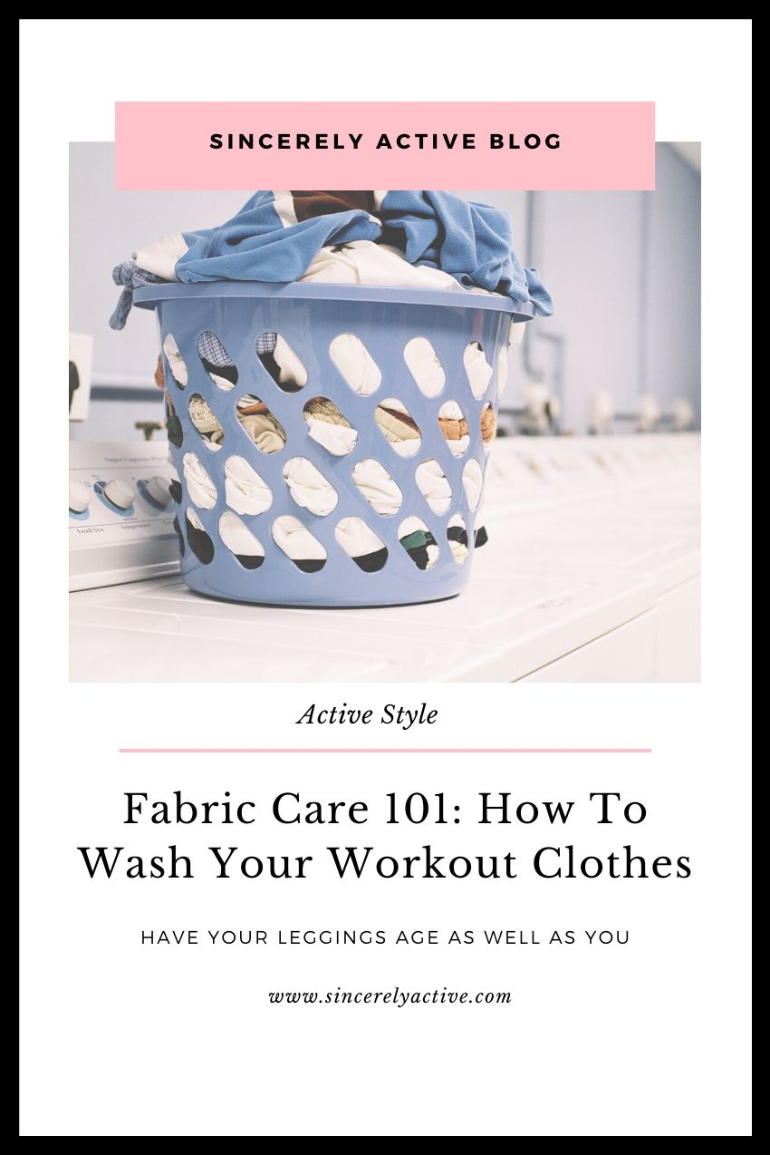 how to wash workout clothes